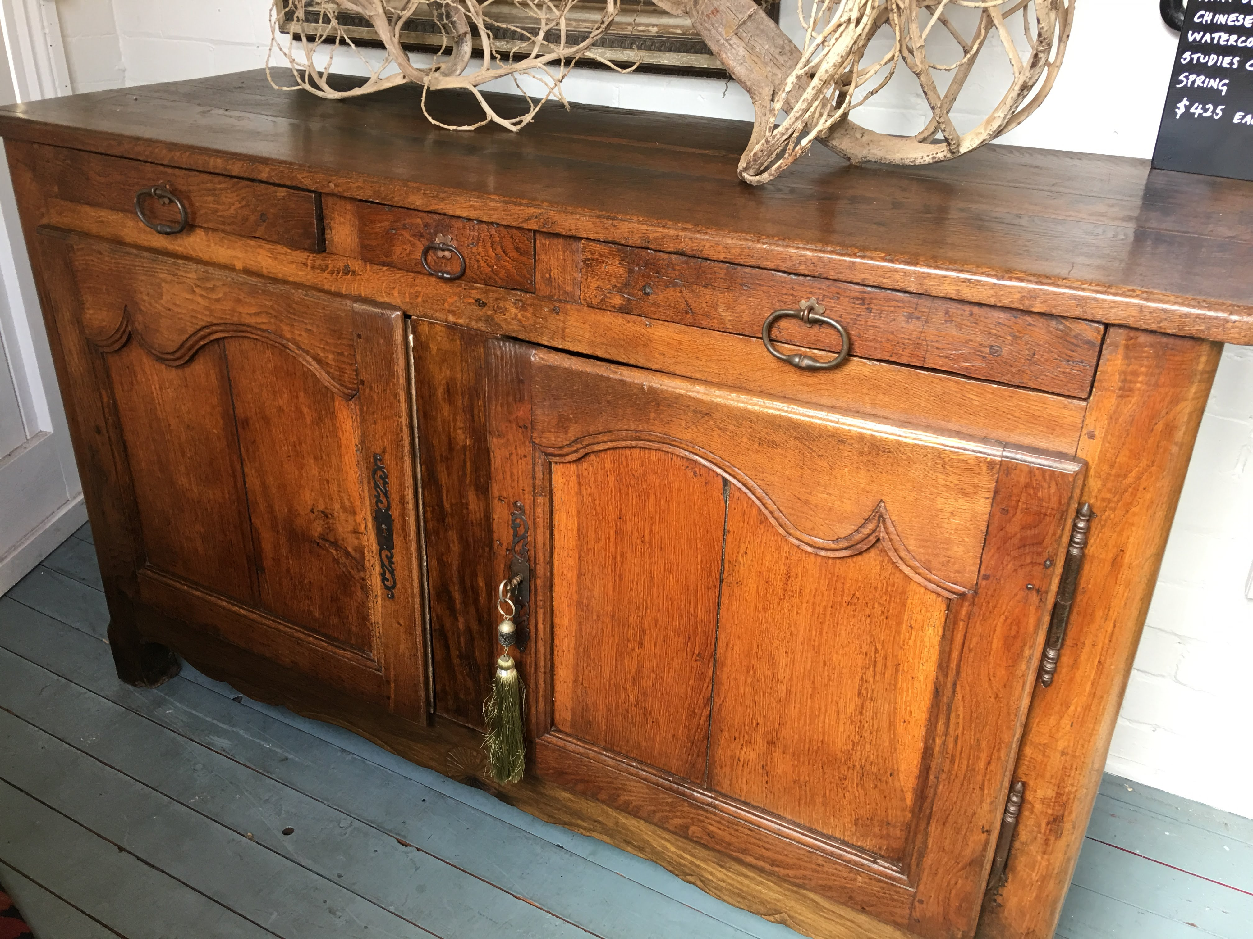 Cabinets & Cupboards Antiques Original Early Australian Natural Oak Sideboard Hand Crafted